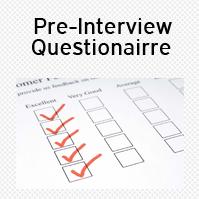 Pre Interview Questionnaire
