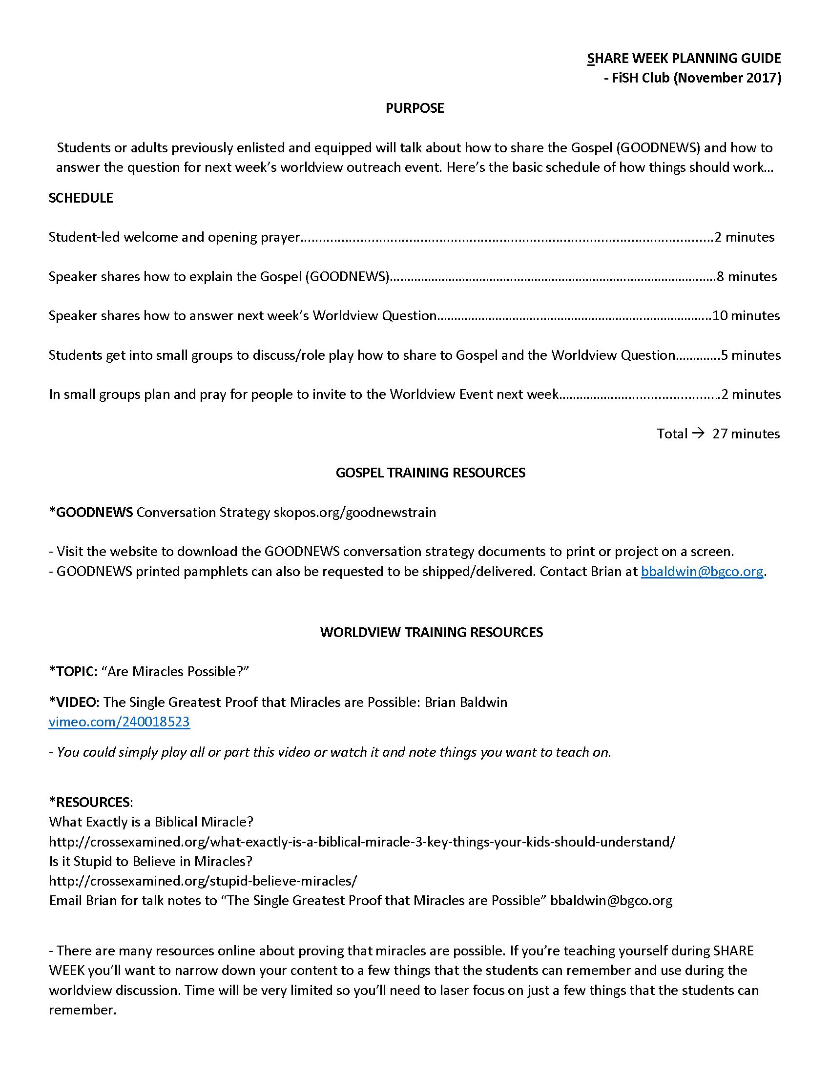 Share Week Planning Guide (November)